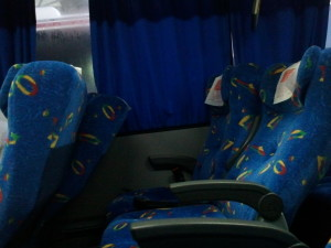 Bus Seats - Maximum Recline!