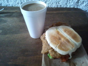 Coffee and a Cemita